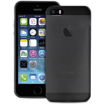 SmartLine zadní kryt UltraSlim pro iPhone 5/5S/SE, tranparentní černý + fólie na displej