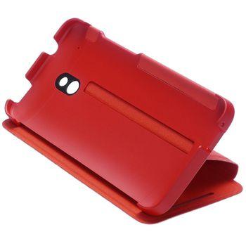 HTC flipové pouzdro se stojánkem Double Dip Flip HC V851 pro HTC One mini, červené