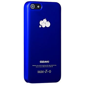 Ozaki kryt pro iPhone 5/5S O!coat Fruit BLUEBERRY, modrá