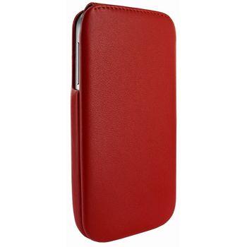 Piel Frama pouzdro pro Samsung Galaxy S4 iMagnum, Red