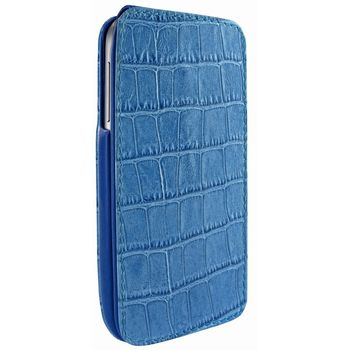 Piel Frama pouzdro pro Samsung Galaxy S4 iMagnum, Crocodile Blue