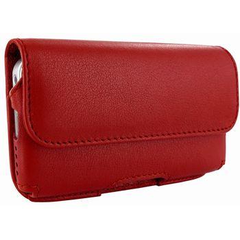 Piel Frama pouzdro pro iPhone 5 Horizontal, Red