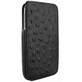 Piel Frama pouzdro pro Samsung Galaxy S4 iMagnum, Ostrich Black
