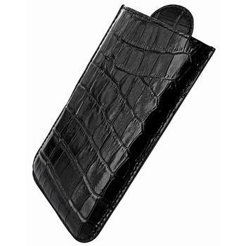 Piel Frama pouzdro pro BlackBerry Z10 Pull Style, Crocodile Black