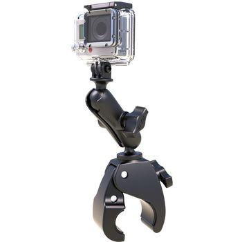 RAM Mounts adaptér pro outdoorové kamery GoPro Hero se svěrkou s ručním upínáním na řídítka/tyč o Ø15,9-38,1mm, vysokopevnostní plast, RAP-B-400-GOP1U