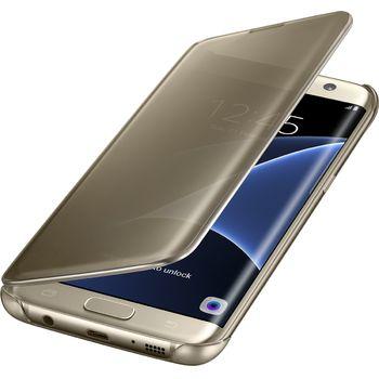 Samsung flipové pouzdro Clear View EF-ZG935CF pro Galaxy S7 edge, zlaté