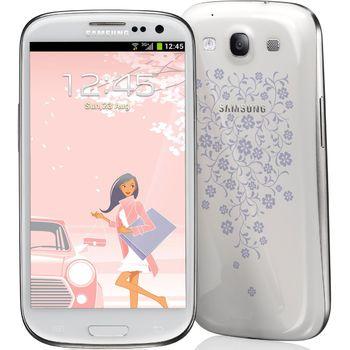 Samsung i9300 GALAXY S III, bílý La Fleur