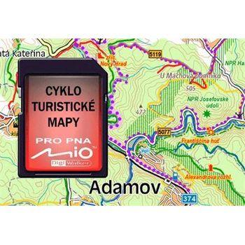 MIO Cyklo a turistické mapy, atlas ČR+SR na SD kartě 1GB pro Mio C520/C720