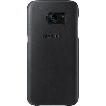 Samsung kožený zadní kryt EF-VG935LD pro Galaxy S7 edge, hnědý
