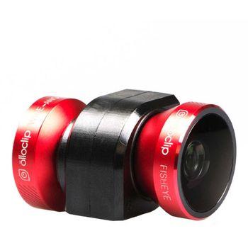 Olloclip - 4 v 1 sada objektivů pro iPhone 5/5S/SE černá/červená