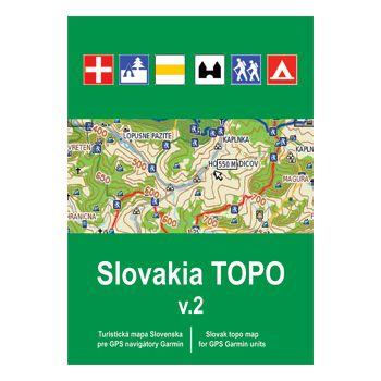 Garmin mapa Slovensko - Slovakia TOPO v2