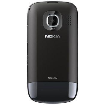 Nokia C2-02 Chrome Black + Nabíjecí sada na kolo Nokia
