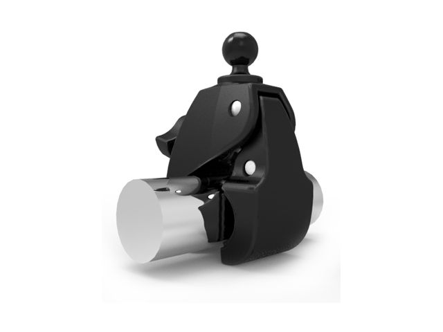 obsah balení RAM Mounts sestava s lichoběž. adapt. s velkou svěrkou s ručním upínáním pro Ø  25,4 - 57,15 mm, RAM-B-401-U