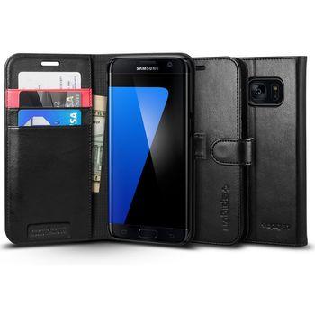 Spigen flipové pouzdro Wallet S pro Galaxy S7 edge, černé