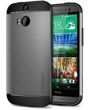 Spigen pevné pouzdro Slim Armor Gun Metal pro HTC One M8, šedá
