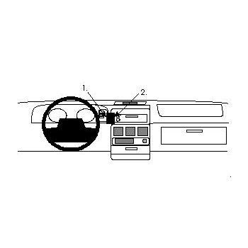 Brodit ProClip montážní konzole pro Chrysler Voyager 94-95, na střed