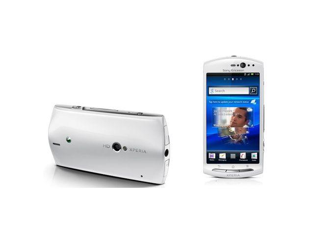 obsah balení Sony Ericsson Xperia neo V - bílá + Belkin Bluetooth Music Receiver