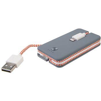 Xtorm záložní baterie s Lightning kabelem Spark Power Cable, 1200 mAh, šedá