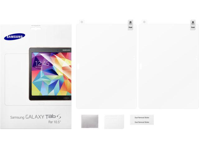 obsah balení Samsung ochranná fólie na displej ET-FT800C pro Galaxy Tab S 10.5, transparentní
