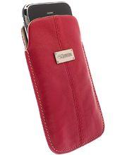 Krusell pouzdro Luna L - Xperia Sola/U,iPhone 4/4S,HTC One V,Lumia 800/710  116x62x12mm (červená)
