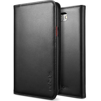 Spigen Samsung Galaxy Note II Snap Case kožené ochrané pouzdro černé