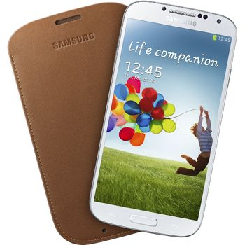 Samsung kožené pouzdro Pouch EF-LI950BA pro Galaxy S4 (i9505), hnědé
