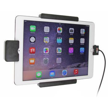Brodit držák do auta na Apple iPad Pro 9.7 bez pouzdra, s nabíjením z cig. zapalovače/USB,s pružinou
