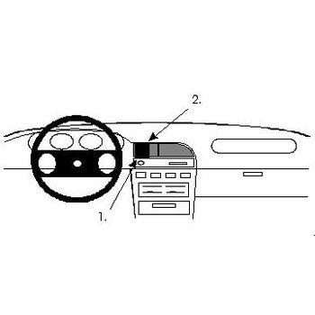 Brodit ProClip montážní konzole pro Nissan Sunny Sedan 91-95, na střed