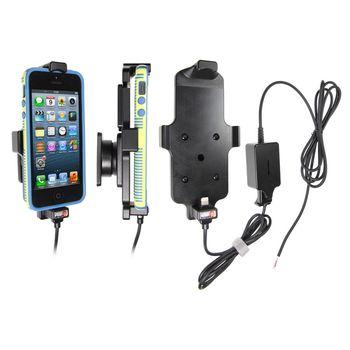 Brodit držák do auta pro iPhone 5/5S v tenkém pouzdru se skrytým nabíjením + Spigen zadní kryt černý