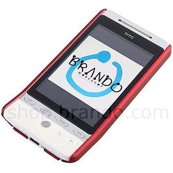 Zadní kryt pogumovaný Brando - HTC Hero (červená)