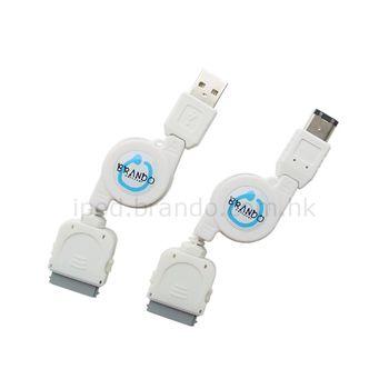 Kabel Fire-Wire dobíjecí/synch./navíjecí Brando - Apple iPhone 3G/iPod/iPhone
