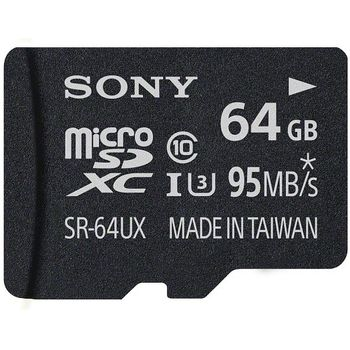 Sony paměťová karta microSDXC 64GB Class 10/UHS-I R94 + SD adaptér