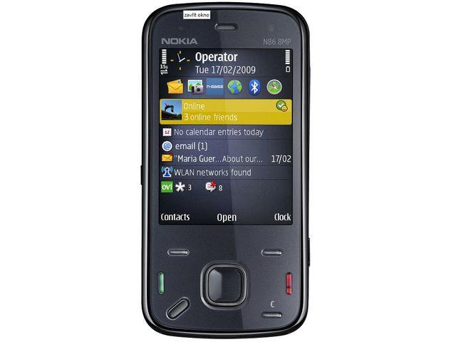 obsah balení NOKIA N86 Indigo 8GB + pasivní držák Brodit