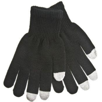 Zimní kapacitní rukavice v černé a šedé barvě - M - pro iPhone, iPad, HTC, Samsung, LG, Motorola, SonyEricsson