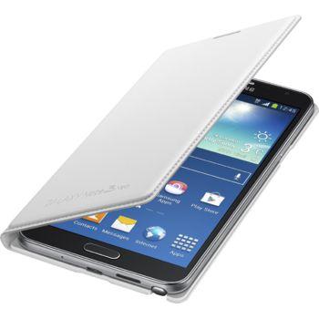 Samsung flipové pouzdro s kapsou EF-WN750BW pro Galaxy Note 3 Neo, bílé