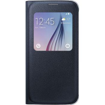 Samsung flipové pouzdro S-View EF-CG920PB pro Galaxy S6, imitace kůže, černá