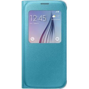 Samsung flipové pouzdro S-View EF-CG920PL pro Galaxy S6, imitace kůže, modrá