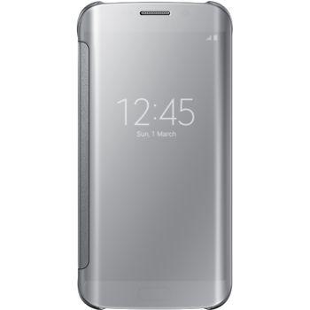 Samsung flipové pouzdro Clear View EF-ZG925BS pro Galaxy S6 Edge, stříbrná, rozbaleno