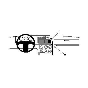 Brodit ProClip montážní konzole pro Hyundai Scope 91-94, na střed