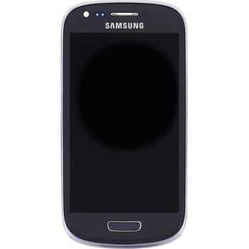 Náhradní díl LCD displej s dotyk vrstvou + přední kryt pro Samsung i8200 Galaxy S III Mini VE, šedá