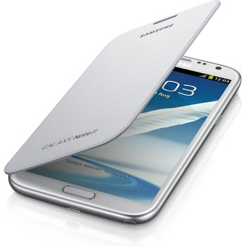 Samsung flipové pouzdro EFC-1J9FW pro Galaxy Note II, bílé