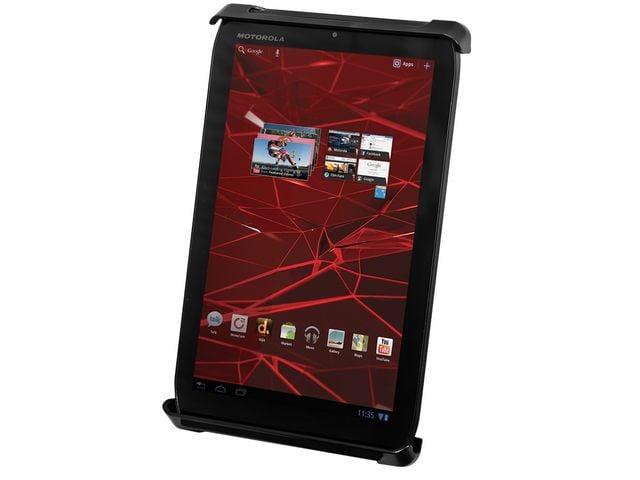 """obsah balení RAM Mounts univerzální držák na tablet 7"""" až 8"""" do auta s úchytem na patu sedadla spolujezdce, čelisťový, sestava RAM-B-316-TAB-SMU"""