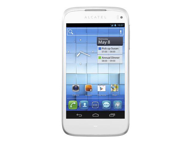obsah balení Alcatel One Touch 997D Dual-Sim + SanDisk značková paměťová karta 16GB