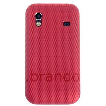 Pouzdro plastové Brando s kovovým vzhledem - Samsung S5830 Galaxy Ace (červená)