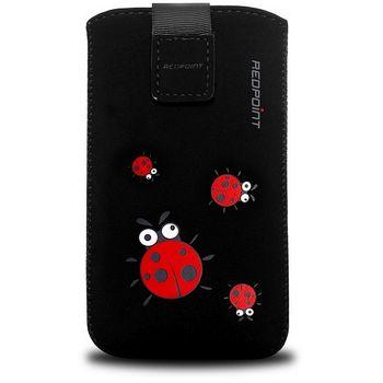 Redpoint pouzdro Velvet s motivem LadyBird Black, velikost S, černá