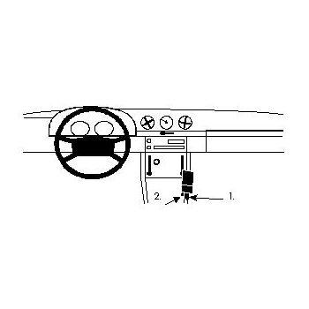 Brodit ProClip montážní konzole pro Mercedes Benz 107 (280-500 SLC/SL) 71-88, na středový tunel