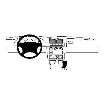 Brodit ProClip montážní konzole pro Škoda Felicia 95-01, na středový tunel