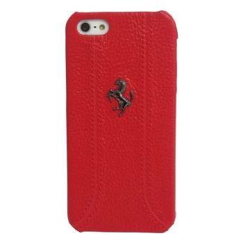 Ferrari zadní kožený kryt pro iPhone 5, červený
