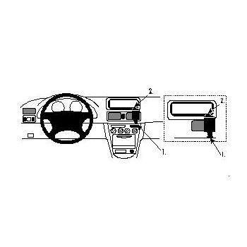 Brodit ProClip montážní konzole pro Toyota Corolla 98-99, na střed vpravo