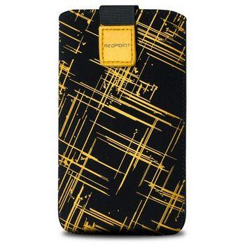 Fixed pouzdro Velvet s motivem Yellow Stripes, velikost XXL, žlutá